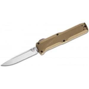 "Benchmade Phaeton AUTO OTF Knife 3.45"" Satin S30V Drop Point Blade, Dark Earth Aluminum Handles - 4600-1 on Sale"