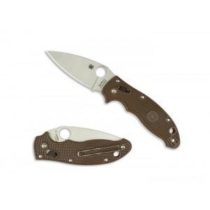 Spyderco Manix 2 Lightweight Brown Exclusive - Combination Edge/Plain Edge on Sale
