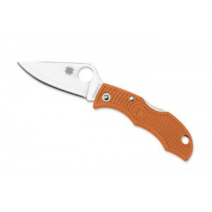 Spyderco Ladybug 3 Burnt Orange HAP40 - Combination Edge/Plain Edge on Sale