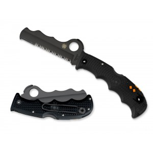 Spyderco Assist Lightweight Black / Black Blade — Combination Edge on Sale