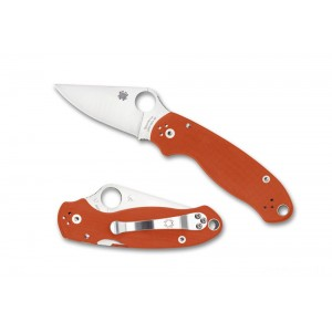 Spyderco Para 3 Burnt Orange CPM REX 45 Sprint - Combination Edge/Plain Edge on Sale