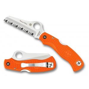 Spyderco Rescue 79mm Lightweight Orange - Combination Edge/Plain Edge on Sale